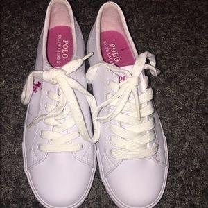 white Polo tennis shoes